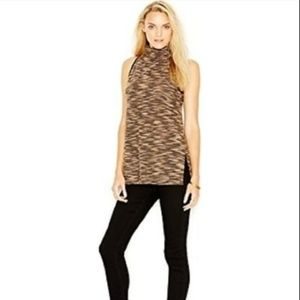 Sanctuary Multi Brown Sleeveless Knit Tunic Top